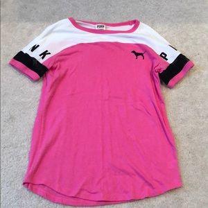 Victoria's Secret PINK short sleeve shirt, size XS